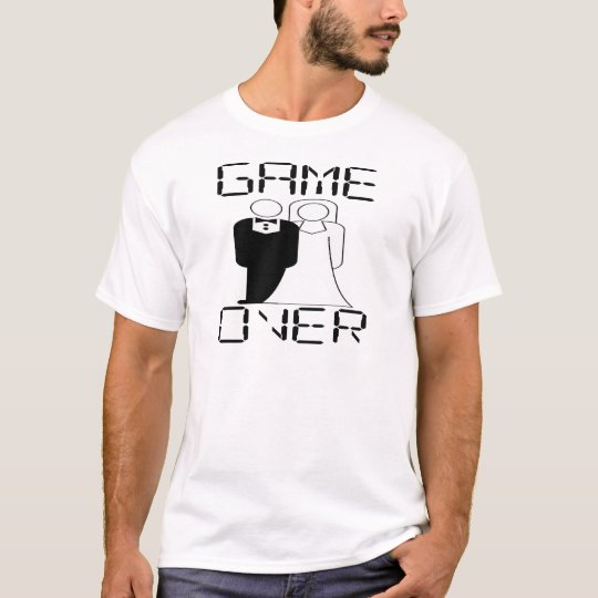 GAME OVER Funny Wedding Design T-Shirt