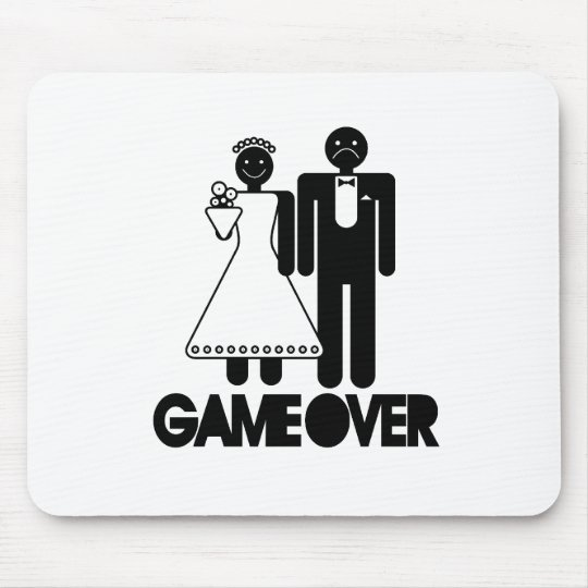 Over Funny Wedding Gifts Mouse Pad