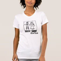 game over game started wedding t-shirt