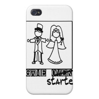 game over game started wedding t-shirt iPhone 4 cover