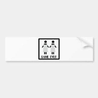 game over lesbian couple icon bumper sticker