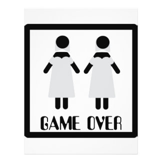 game over lesbian couple icon flyer