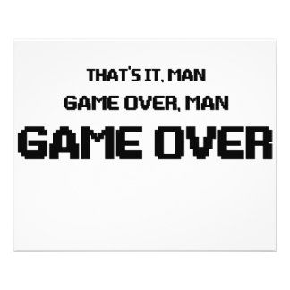 GAME OVER MAN FLYER