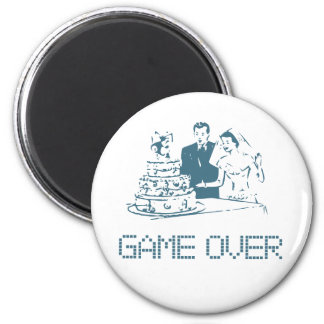 Game Over (Marriage) 2 Inch Round Magnet