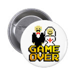 Game over marriage (8-bit) 2 inch round button