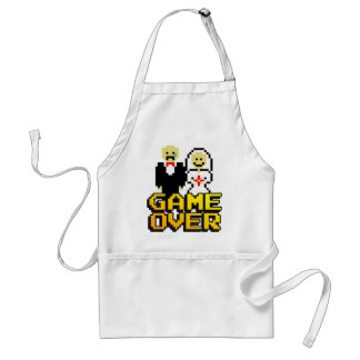 Game over marriage (8-bit) adult apron