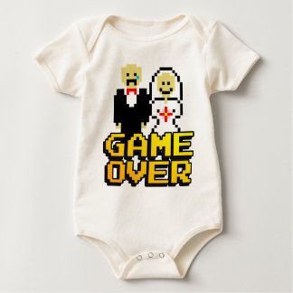 Game over marriage (8-bit) baby bodysuit
