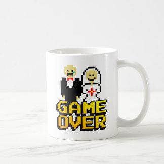 Game over marriage (8-bit) classic white coffee mug