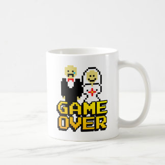 Game over marriage (8-bit) coffee mug