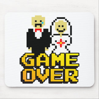 Game over marriage (8-bit) mouse pad