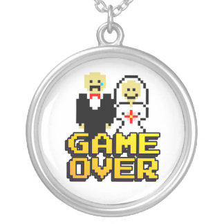 """""""Game Over"""" Marriage (8-bit) Personalized Necklace"""