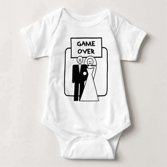"""""""Game Over"""" marriage Baby Bodysuit"""