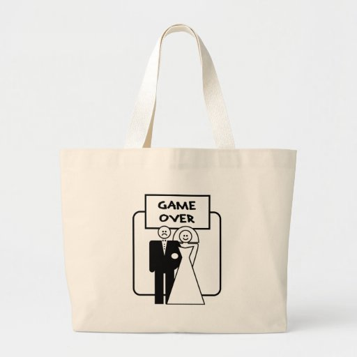 """""""Game Over"""" marriage Canvas Bag"""