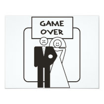 Game Over Marriage Card