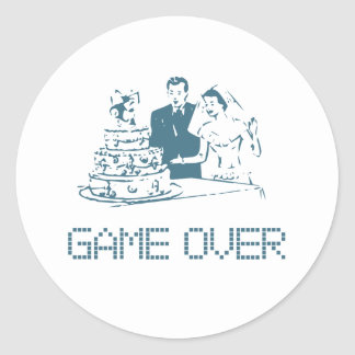 Game Over (Marriage) Classic Round Sticker