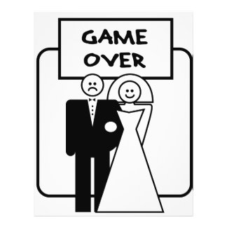 """""""Game Over"""" marriage Flyer"""
