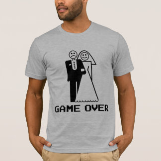 Game Over Marriage Game Over Funny tshirt