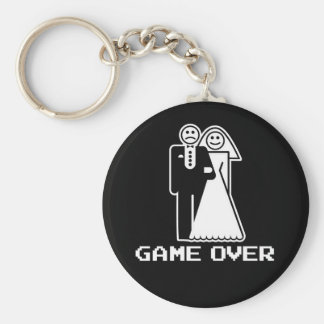 Game Over Marriage Game Over Funny tshirt Basic Round Button Keychain