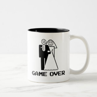 Game Over Marriage Game Over Funny tshirt Two-Tone Coffee Mug