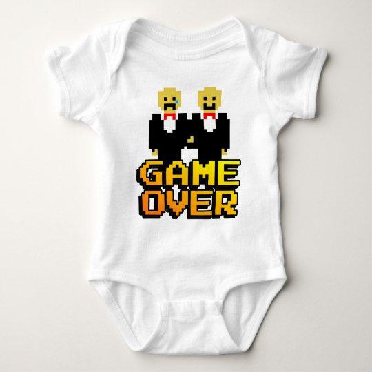 """Game Over"" Marriage (Gay, 8-bit) Baby Bodysuit"