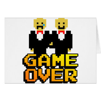 """Game Over"" Marriage (Gay, 8-bit) Card"