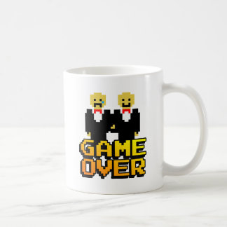 """Game Over"" Marriage (Gay, 8-bit) Classic White Coffee Mug"