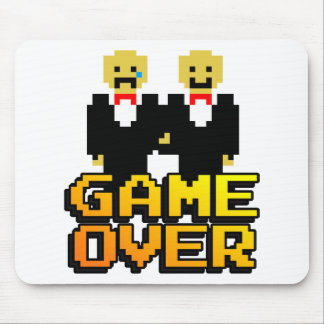 """Game Over"" Marriage (Gay, 8-bit) Mouse Pad"
