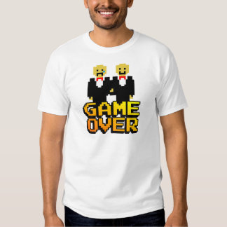"""""""Game Over"""" Marriage (Gay, 8-bit) Shirts"""