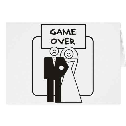 Game Over Marriage Greeting Card