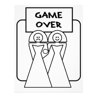 """Game Over"" Marriage (Homosexual) Flyer"