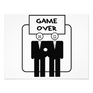 Game Over Marriage Homosexual Personalized Invitation