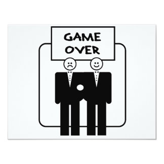 """""""Game Over"""" Marriage (Homosexual) 4.25x5.5 Paper Invitation Card"""