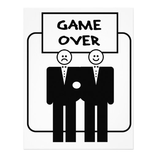 """""""Game Over"""" Marriage (Homosexual) Personalized Letterhead"""