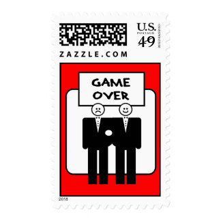 """Game Over"" Marriage (Homosexual) Postage Stamp"