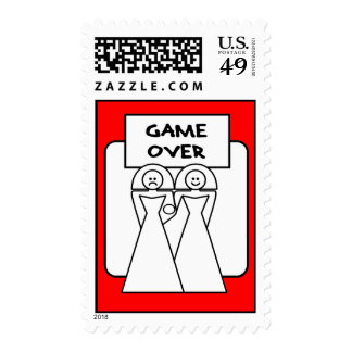 """Game Over"" Marriage (Homosexual) Postage Stamps"