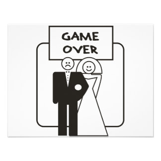 Game Over Marriage Invitations