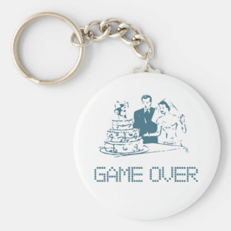 Game Over (Marriage) Basic Round Button Keychain