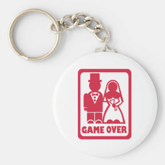Game over - Marriage Basic Round Button Keychain