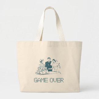 Game Over (Marriage) Large Tote Bag