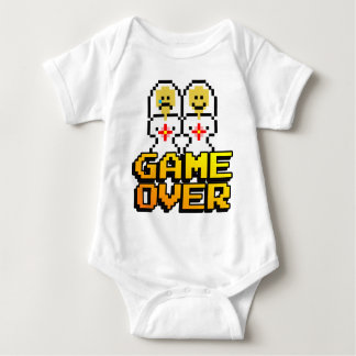 Game Over Marriage (Lesbian, 8-bit) Baby Bodysuit