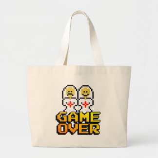Game Over Marriage Lesbian 8-bit Tote Bags