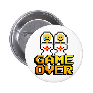 Game Over Marriage (Lesbian, 8-bit) Button