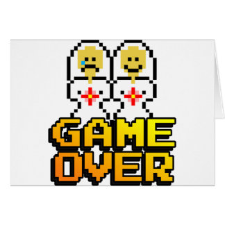Game Over Marriage (Lesbian, 8-bit) Card