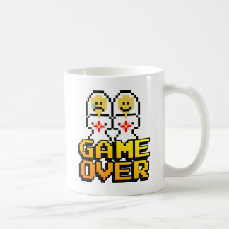 Game Over Marriage (Lesbian, 8-bit) Classic White Coffee Mug
