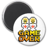 Game Over Marriage (Lesbian, 8-bit) 2 Inch Round Magnet