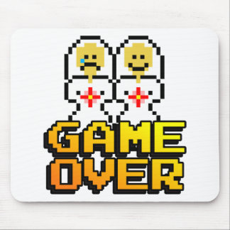 Game Over Marriage (Lesbian, 8-bit) Mouse Pad