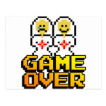 Game Over Marriage (Lesbian, 8-bit) Postcard