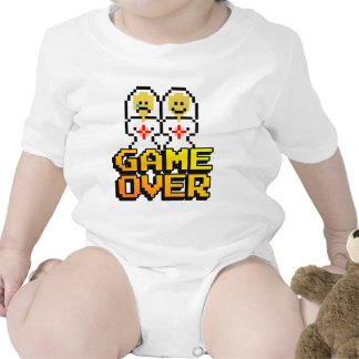 Game Over Marriage (Lesbian, 8-bit) T-shirts