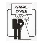 Game Over Marriage Letterhead Design