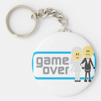 Game Over Marriage (Miis) Basic Round Button Keychain